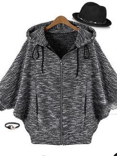 2014 Korean Autumn Bat-Wing Sleeve Cardigan Sweater Coat Leisure Size S-XL Wear For Sale
