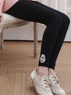 2014 Hot Selling Legging Pure Color Long Pants Skinny Lace Decoration Cozy Black Leggings