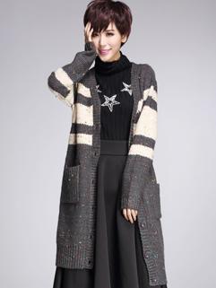 2014 Hottest Style Look Women Long Sweater Coat Easy Match Top Autumn Europe Wear Female Coat