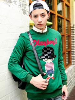 Wholesale Korea Fashion Hoodies Printing Long Sleeve Top Casual Cotton Hoodies