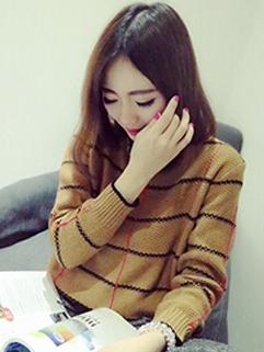 2014 British Style Wholesale Plaid Pattern Slim Wear Sweater Pullover Round Neck Star Stalker Casual Sweater