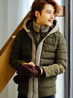 2014 Latest Korea Coats Color Block MD-Long Coats Hooded Street Style Coat