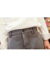 2014 Autumn Winter New Brand Slim Wear Plaid Pattern Pocket Casual Pant Zipper Fly Mid-waist Classic Look Pant