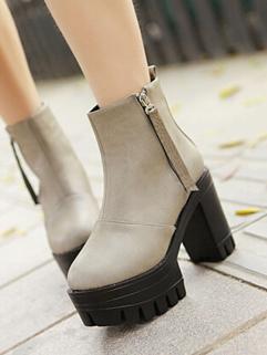 2014 Winter Thicken Warm Korean New Brand Tassel High Heel Boot Round Toe Side Zipper Fashion Boot Size 35-39
