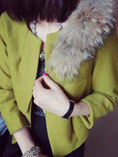 2014 Simple Korea Coats Fitted Long Sleeve Cardigan Short Casual Coats