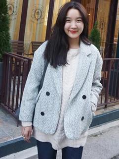 Winter Suit Korean New Fashion Lapel Coat Button Decorated Pure Color Vertical Pocket Street Wear Short Coat