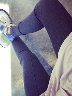 Korean Hot Sale Chic Dark Gray Color Skinny Legging Slim Wear Easy Match Long One Size Legging