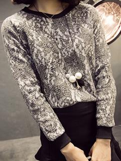 2014 Korean All Match Gray Color Slim Wear O Neck Hoodie Lace Split Joint Hook Flower Long Sleeve Fresh Hoodie