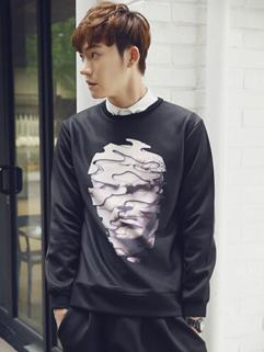 New Arrival Korean Popular Hoodies Printed Pattern Long Sleeve Casual Hoodies M-XL