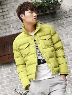 2014 New Wholesale Men Coats Pure Color Long Sleeve Stand Collar Cardigan Coats M-XXL