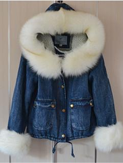 Korea Sweet Coats Hooded Long Sleeve Bandage Single-breasted Coats Street Style Chic Coats
