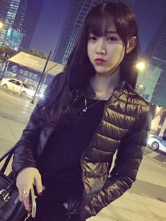 New Coming Women Short Coats Pure Color Zip Up Long Sleeve Round Collar Black Coats M L