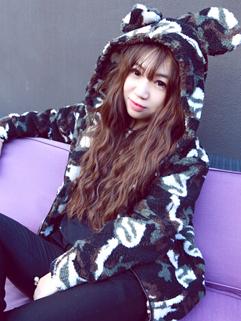2014 Korean Casual Women Coats Color Block Camouflage Zip Up Hooded Long Sleeve Coats