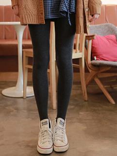 2014 Winter New Thicken Girls Legging Full Long Pants Mid Waist Skinny Sweet Style Black Leggings