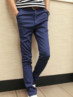 Korean Street Wear Slim Wear All Match Long Pant Fashion Men Casual Vertical Pocket Add Wool Zipper Fly Pant