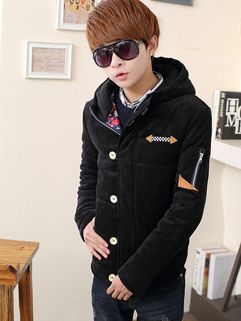 All Match Cozy Black Color Korean Wholesale Men Coat Zip Up Single-breasted Vertical Pocket Fitted Coat M-3XL
