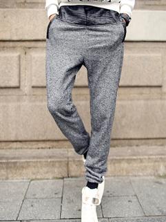 New Step Korean Fashion Men Pure Color Long Pant Chic Design Pulling Rope PU Split Joint Pockets Oversize Pant