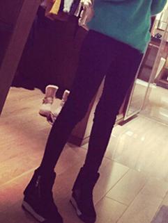 2014 Newly Wholesale Thicken Girls Legging Full Long Pants Mid Waist Skinny Black Leggings