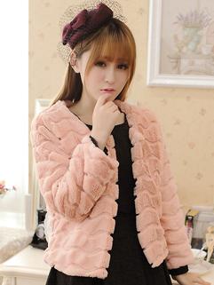 Fashion Wholesale Coats Solid Color Long Sleeve Single-breasted Cardigan Pink Princess Coats