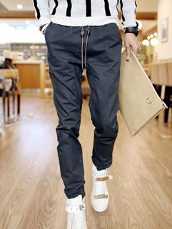 Street Wear Slim Wear Cozy Gray Color Casual Wear Pant Vertical Pocket Low-waist Pulling Rope Men Pant For Sale