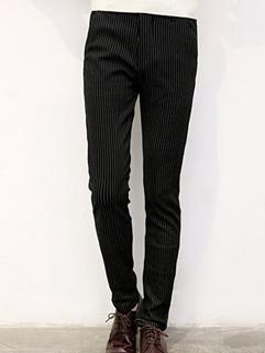 2014 High Quality British Men Pants Color Block Stripe Pattern Zip Up Full Long Skinny Pants M-XXL