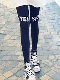 2014 Autumn Leggings YES Pattern Skinny Long Leggings Add Wool Black Leggings