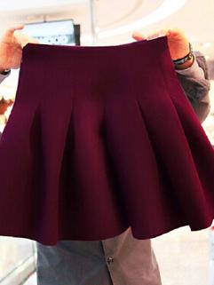 2014 Autumn Versatile Style Women Skirts Pure Color Elastic Casual Short Cotton 3 Colors Skirts XS-XXL