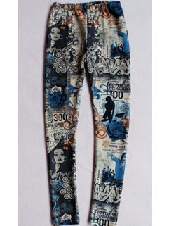 2014 European Thicken Legging Printed Beauties Pattern Full Long Pants Mid Waist Skinny Leggings