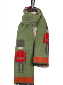 Fashion Hot Style Scarf Color Block Cartoon Pattern Scarf Woolen Green Street Style Scarf