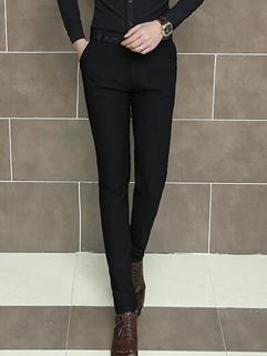 Strong Recommend Cozy Black Color Long Pant Oversize Pockets Mid-waist Slim Wear Zipper Fly Men Wear Pant