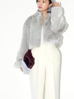 High Class Cozy Gray Color Long Sleeve Lapel Coat Slim Wear One Size Best Quality Casual Wear Short Coat