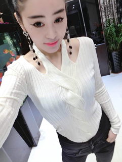 2014 New Coming Sexy Sweaters Pure Color Halter Neck Off Shoulder Long Sleeve 2 Colors Sweaters