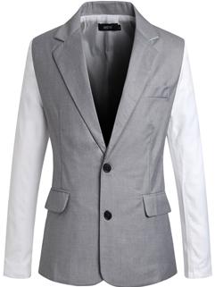 Korean New Fashion Men Cozy 2 Solid Color Lapel Button Coat Pocket Single-breasted Slim Wear Oversize Coat