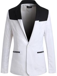 Korean New Coming Lapel Slim Wear Cozy White Color Coat Long Sleeve Oversize Pocket Button Split Joint Coat
