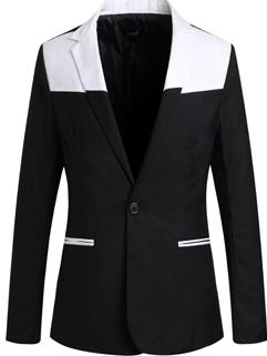 Size M-2XL New Fashion Lapel Slim Wear Cozy Black Color Coat Long Sleeve Pocket Button Split Joint Coat
