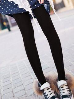 2014 Street Style Leggings Thicken Solid Color Add Wool Leggings Black Skinny Leggings