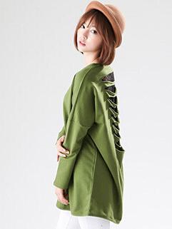 Chic Design Bat Sleeve Lace Split Joint Cozy Solid Color Blouse Hollow-out Slim Wear All Match Women Blouse