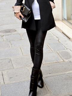 Fashion Brand Euro American White&Black Skinny High Waist Legging For Women