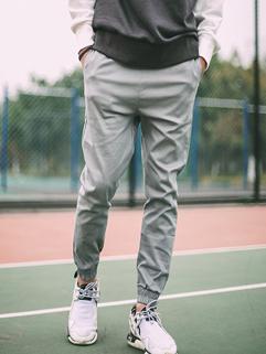 Best Selling Letter Bridle Elastic Hem Trousers Sports Fashion Skinny Mens Pants