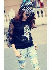 Hip-hop Style Polka Dot Sheet Metal Fashion Leather Cap For Woman