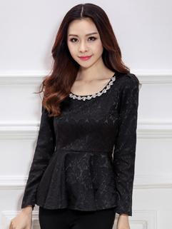 Korean Vintage High Quality Zip Up Diamond Classic Ruffle Jacquard Women Black Dress