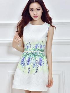 Honey Girl Royal Fresh Sleeveless Smart Waist High Quality Summer Dress