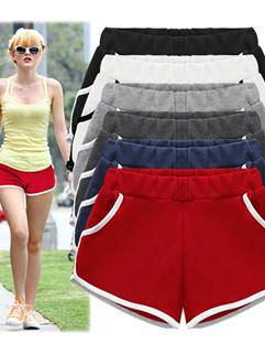 2015 Simple Fashion Women Short Color Block Pocket 4 Colors Leggings