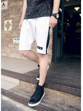 Low-cost Star Embroidery Half Length Mens Celebrity Pants