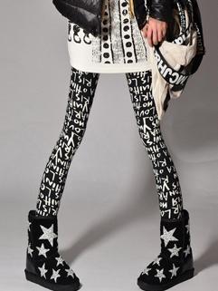 2015 Punk Style Women Floral Printing Skinny Long Legging