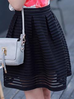 Summer Fashion Korean Women Ball Gown Half Black Skirt