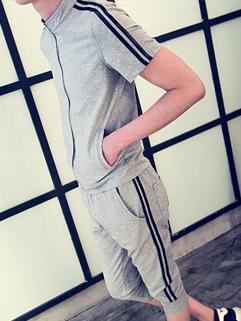 2015 Latest Summer Design Men Short Sleeve Seventh Pants Activewear