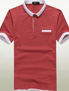2015 Latest Summer Design Men Korean Style Lapel Fashion Slim Casual Short Sleeve Tee