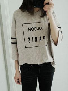 Best Selling Letter Print Half Sleeve Cheap Womans Cotton T shirt
