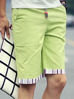 Latest Summer Design Men Linen Loose Large Size Drawstring Casual Beach Shorts